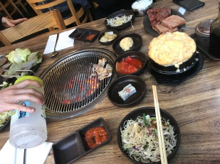 As usual. Protein. Korean food.